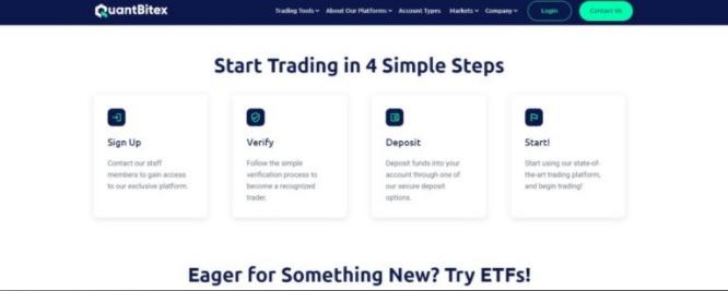 Quantbitex Simple Registration Process