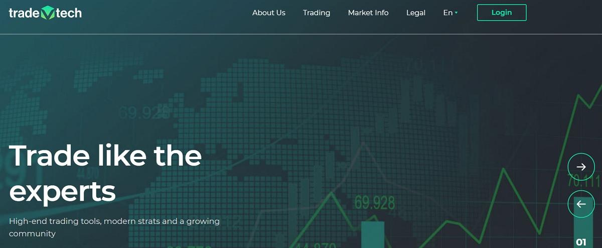 TradeVtech homepage