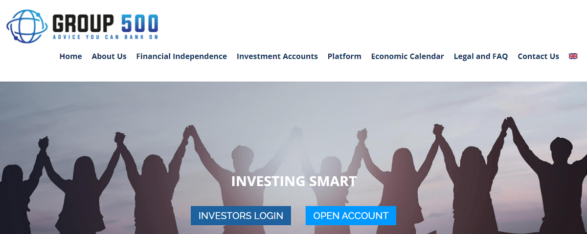 Group 500 homepage
